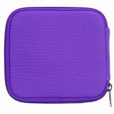 Rollerbottle 10ml, essential oil case- storage bag for 10 bottles, purple