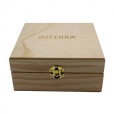 DOTERRA BRANDED PINEWOOD ESSENTIAL OILS BOX - HOLDS 25 VIALS