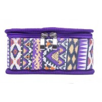 Portable 30 Bottles Essential Oil Carrying Case -  Purple with tribal