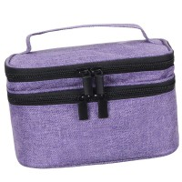 Portable 30 Bottles Essential Oil Carrying Case -  Purple