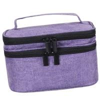 Portable 30 Bottles Essential Oil Carrying Case -  Purple