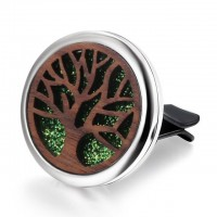 Car Diffuser - wood/ stainless steel - tree