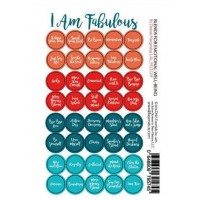 I am Fabulous Blends Lid Stickers (sheet of 40)