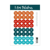 I am Fabulous Blends Lid Stickers (40)