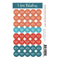 I am Fabulous  Lid Stickers (sheet of 40)