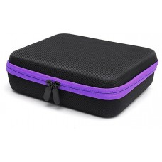 30 Bottles Essential Oil Hard case Storage, 15ml  - purple stripe