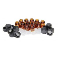 1 ml amber glass vials, reducers 12 pcs