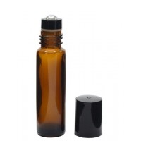10 ml amber roll on glass bottle. Roller ball dia.: 10mm