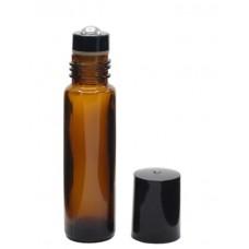 10 ml amber roll on glass bottle. Roller ball dia.: 10mm