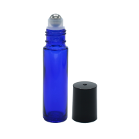 10 ml blue glass roll on bottle. Roller ball dia.: 10mm