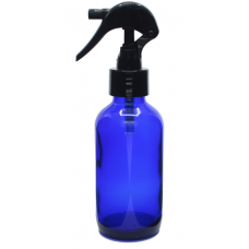 120 ML BLUE GLASS BOTTLE WITH TRIGGER SPRAY TOP