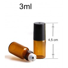 RULLIKPUDEL -3 ml amber roll on glass bottle