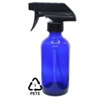 500ml dark blue plastic spray bottle. 1 PETE marking