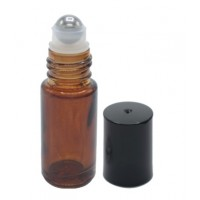5ml amber roll on thick glass bottle. Roller ball dia.: 10mm