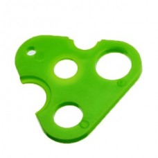 OIL BOTTLE TRIANGLE OPENER- LIGHT GREEN