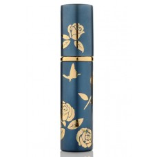 10ml mini Perfume Refillable Bottle- dark blue with butterflies
