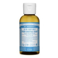 Dr. Bronner's baby unscented pure castile liquid soap 60 ml